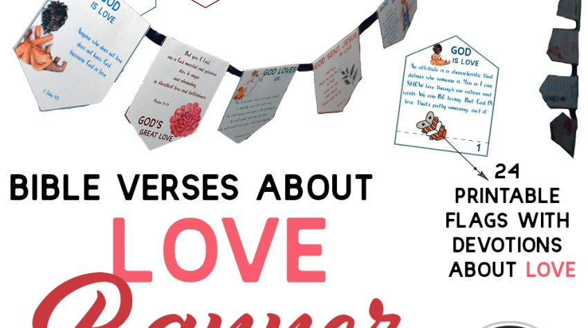 The Bible Verses about Love Banner