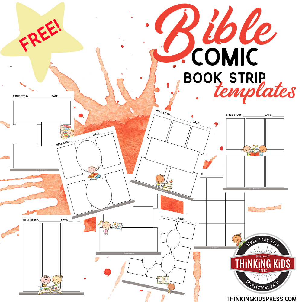 Blank Comic Book Strip Template for Bible Stories