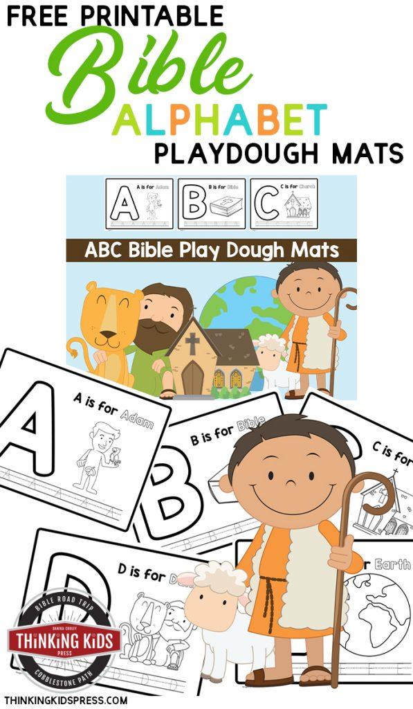 Free Printable Bible Alphabet Playdough Mats