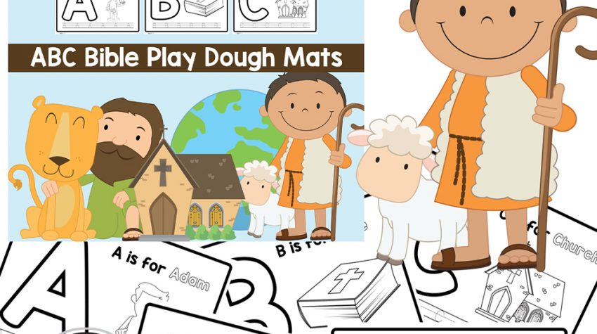 Free Printable Bible Alphabet Playdough Mats