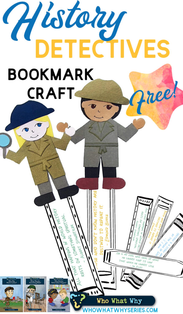 History Detective Bookmark Craft for Kids