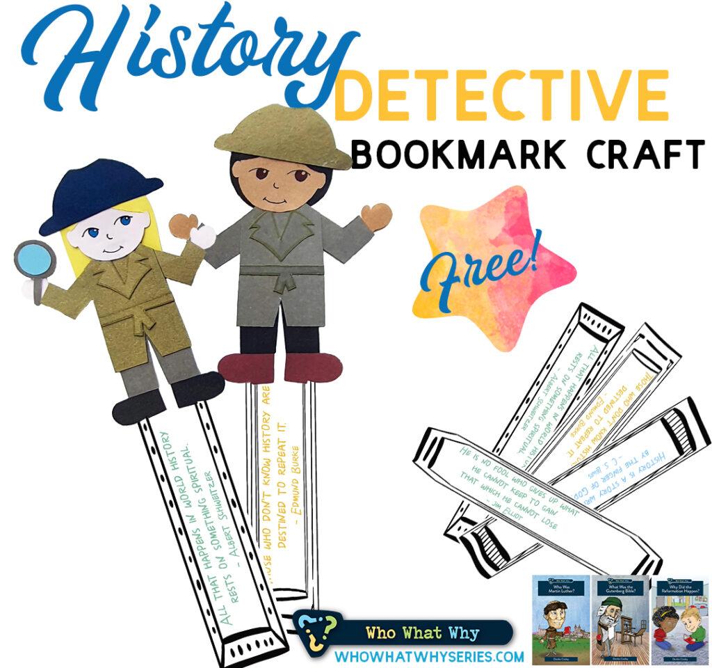 History Detective Bookmark Craft