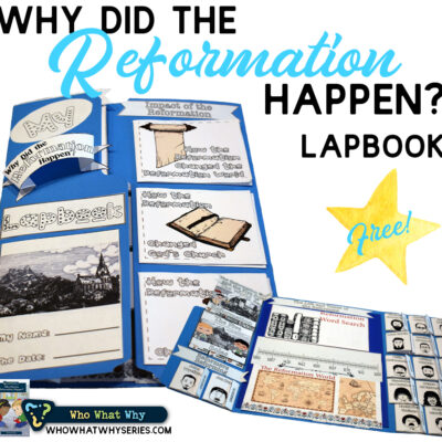 Protestant Reformation for Kids | FREE Lapbook