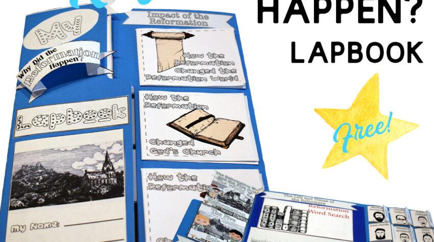 Protestant Reformation for Kids   FREE Lapbook