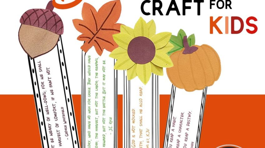 Fall Harvest Bookmark Craft for Kids